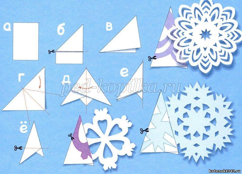Как снежинки своими руками из бумаги